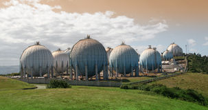 Industrial bulk storage tanks Stock Images