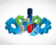 Industrial business profits concept illustration Royalty Free Stock Images