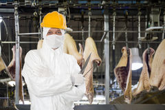 Industrial butcher royalty free stock photos