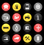 Industrial buttons Stock Photography