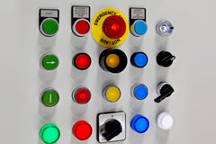 Industrial buttons Royalty Free Stock Photography