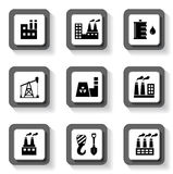 Industrial buttons set Royalty Free Stock Photo