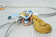 Industrial Cable with Shackle Stock Photos