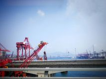 Industrial cargo port Royalty Free Stock Image