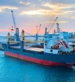 Industrial cargo port, Italy Stock Photos
