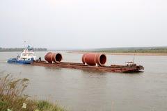 Industrial cargo transportation Stock Images