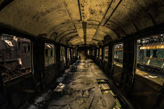 Industrial carriage interior Stock Images