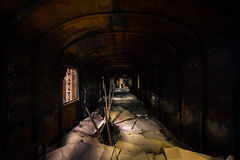 Industrial carriage interior Royalty Free Stock Image