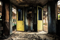 Industrial carriage interior Stock Photo