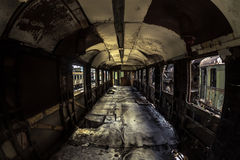 Industrial carriage interior Royalty Free Stock Photos