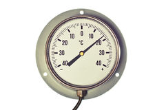 Industrial Celsius Thermometer Royalty Free Stock Photos