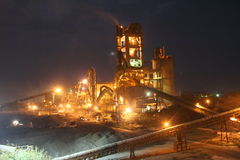 Industrial cement manufacturing Stock Photo
