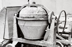 Industrial cement mixer machine Stock Images