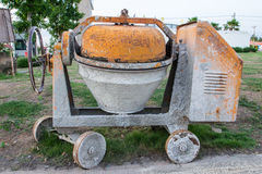Industrial cement mixer machinery Stock Photography