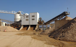 Industrial cement plant Royalty Free Stock Photos