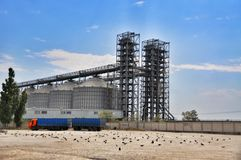 Industrial cement silo in cement factory Royalty Free Stock Image