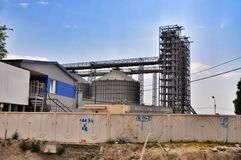 Industrial cement silo in cement factory Royalty Free Stock Images