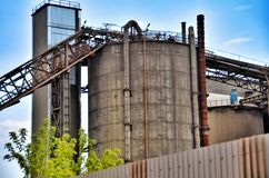 Industrial cement silo in cement factory Stock Photography