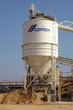 Industrial cement storage tank Royalty Free Stock Photography