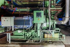 Industrial centrifugal compressor royalty free stock photos