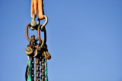 Industrial chain and hooks Royalty Free Stock Images