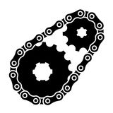 Industrial chain sprocket silhouette. Illustration for the web Stock Image