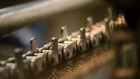 Industrial chain working Stock Photo