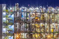 Industrial Chemical factory detail Stock Photo