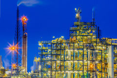 Industrial Chemical plant framework detail Stock Photography