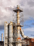 Industrial Chemical plant outside pipes Royalty Free Stock Image
