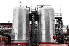 Industrial chemical storage Royalty Free Stock Photo