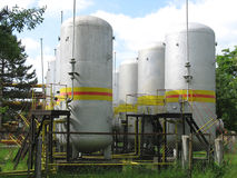 Industrial chemical tanks Royalty Free Stock Image