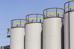 Industrial Chemical Tanks Stock Photo