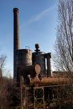 Industrial chimney factory Landschaftspark, Duisburg, Germany stock image