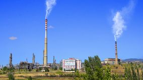 Industrial chimney stock video footage