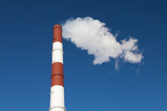 Industrial chimney and smoke Stock Photo
