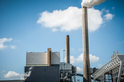 Industrial chimney Stock Photos