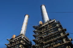Industrial chimney from a thermoelectric plant Stock Photo