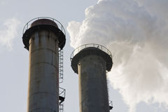 Industrial chimneys Royalty Free Stock Image
