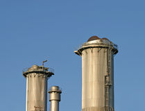Industrial chimneys Stock Photo