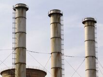 industrial-chimneys Stock Image