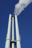 Industrial chimneys Royalty Free Stock Photo