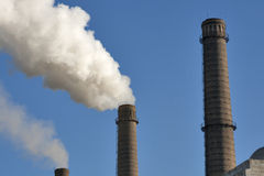 Industrial chimneys pollution air Royalty Free Stock Image