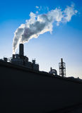 Industrial chimneys - vertical Stock Photo