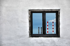 Industrial chimneys Royalty Free Stock Images