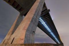 Industrial circle bridge or Bhumibol Bridge. Royalty Free Stock Image