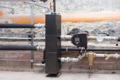 Circulation pump energy-saving in the boiler room. Industrial: Circulation pump energy-saving in the boiler room Royalty Free Stock Photo