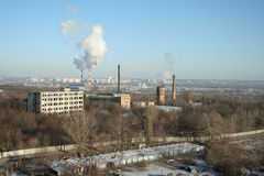 Industrial city. A view on industrial city stock photography