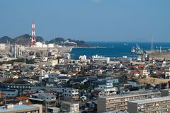 Industrial city in Japan Stock Photography