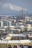 Industrial City In Winter Royalty Free Stock Photos
